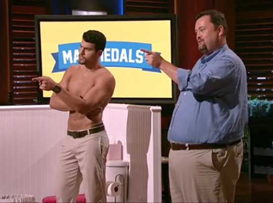 Man Medals on Shark Tank