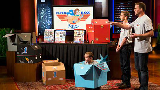 Paper Box Pilots on Shark Tank